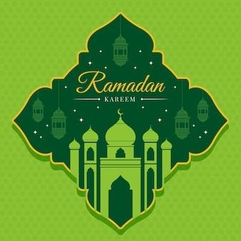 Ramadan vert design plat