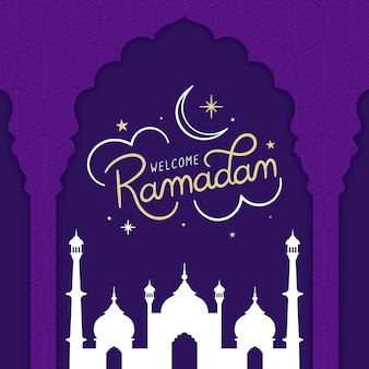 Ramadan violet design plat