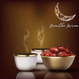Ramadhan kareem salutation. la célébration de l'iftar