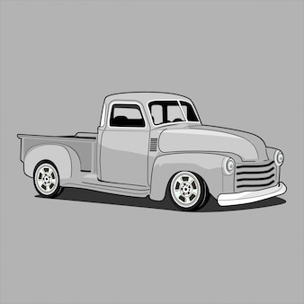 Ramassage de camion classique rétro