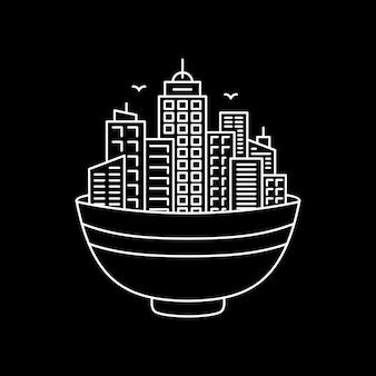 Ramen bowl et la ville