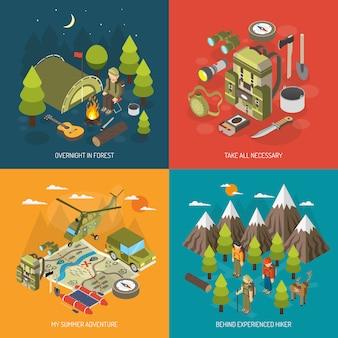 Randonnée et camping concept