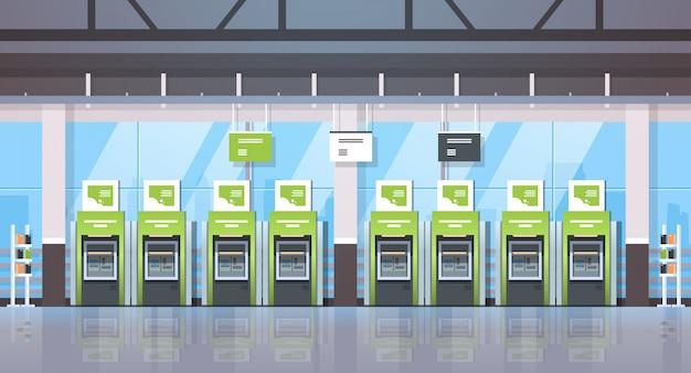 Rangée guichet automatique bancaire