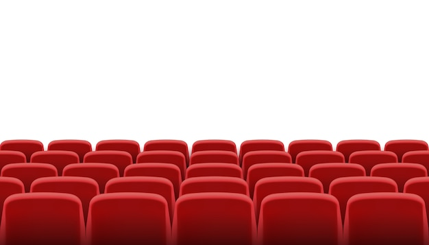 Rangées de sièges de cinéma ou de théâtre rouges