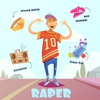 Raper character pack pour homme