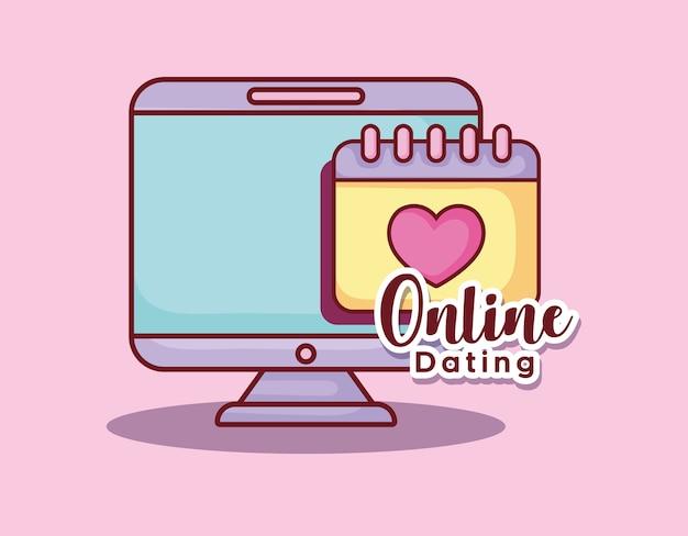 Rappel de calendrier d'ordinateur rencontres en ligne