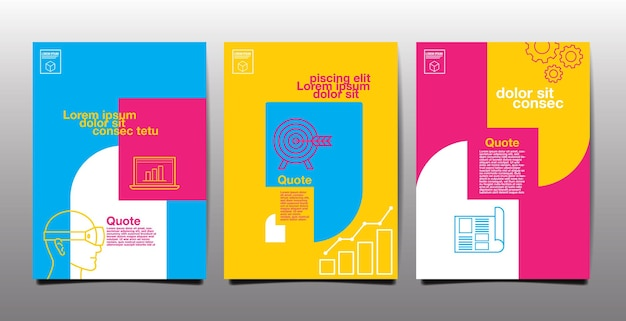 Rapport annuel, avenir, entreprise, conception de modèle de mise en page, livre de couverture. illustration vectorielle