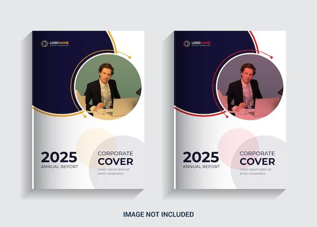 Rapport annuel conception de couverture de livre pour les entreprises commerciales