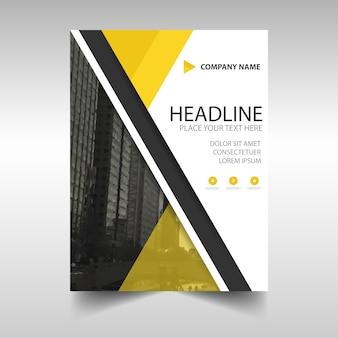 Rapport annuel créatif jaune modèle de couverture du livre