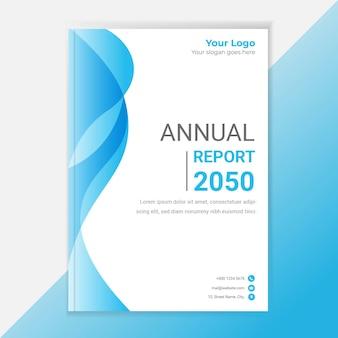 Rapport annuel d'entreprise, modèle de conception de couverture de livre.