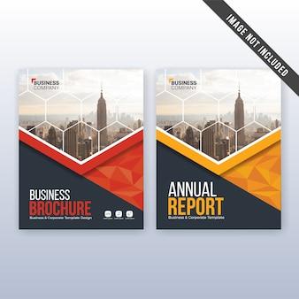 Rapport annuel d'entreprise et modèle de flyer modernes