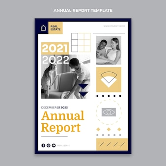 Rapport annuel sur l'immobilier géométrique au design plat