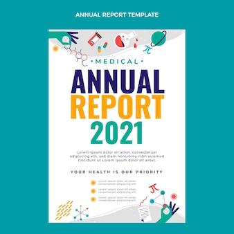 Rapport Annuel De La Science Plate Vecteur gratuit