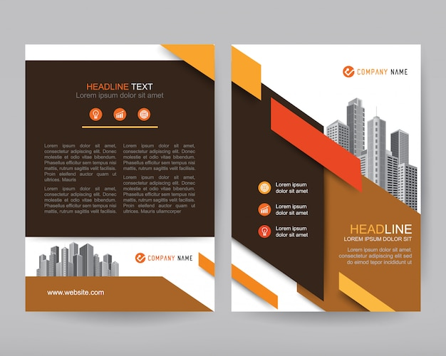 Rapport annuel de vecteur business brochure, conception de flyers