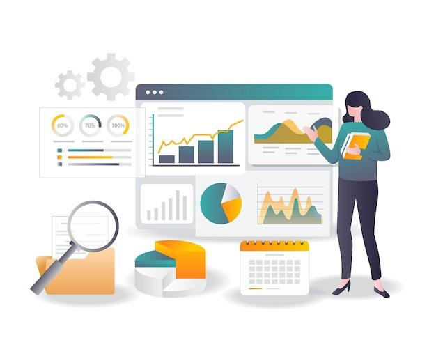 Rapport de données de concept de design plat et analyse