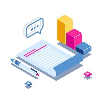 Rapport quotidien ou concept d'inspection. document et stylo sur les graphiques d'arrière-plan