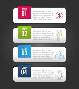Rapport de stratégie d'entreprise infographique