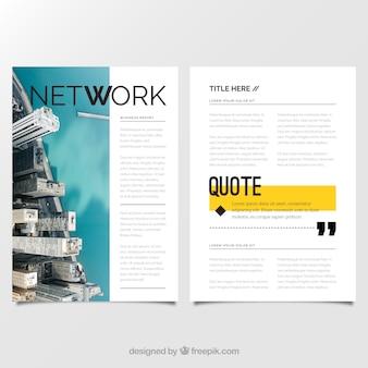 Rapports d'entreprise avec un design moderne