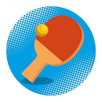 Raquette et balle de ping pong
