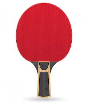 Raquette de tennis de table, illustration vectorielle de ping-pong