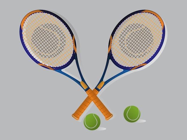 Raquettes de tennis de jeu et balles vecteur de motif