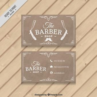 Rasoir sketches carte salon de coiffure
