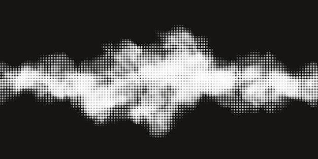 Raster d'impression monochrome, fond de demi-teinte vecteur abstrait. texture noire et blanche de points.
