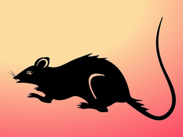 Rat sale vecteur silhouette de la nature