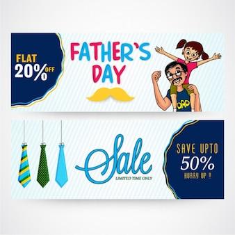 Rayé bannières de vente pour la fête des pères