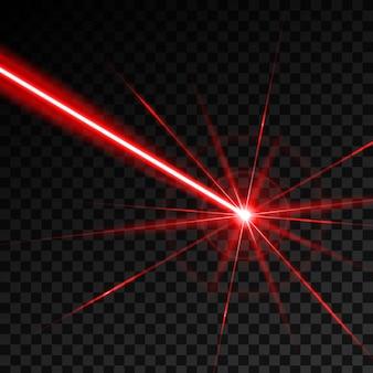 Rayon lumineux de rayon de sécurité laser.