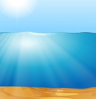 Un rayon de soleil sous l'eau