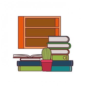 Rayonnage avec des livres