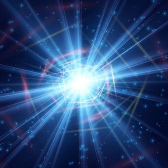Rayonnement cosmique lumière polie