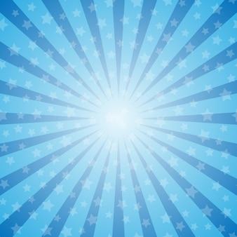 Rayons abstrait avec des étoiles