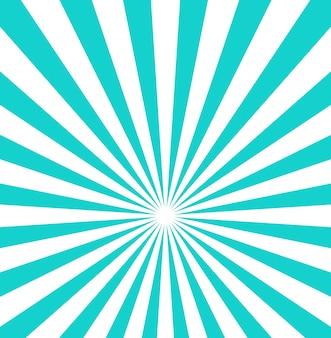 Rayons blanc et bleu à partir du fond du centre