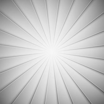 Rayons blancs dans un style papier. ligne diagonale et fond de rayures. illustration vectorielle pour la conception