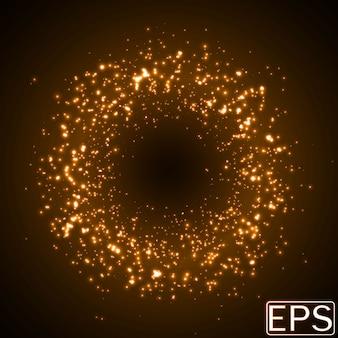 Rayons d'énergie de taille aléatoire. version orange
