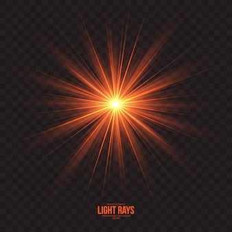 Rayons de lumière abstraites effet vectoriel