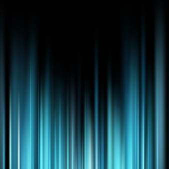 Rayons de lumière magique bleu abstrait sur fond sombre.
