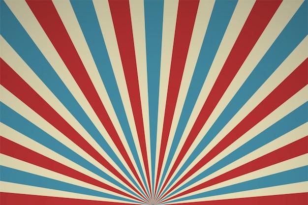 Rayons de lumière rétro fond de performance de cirque et performances passées.