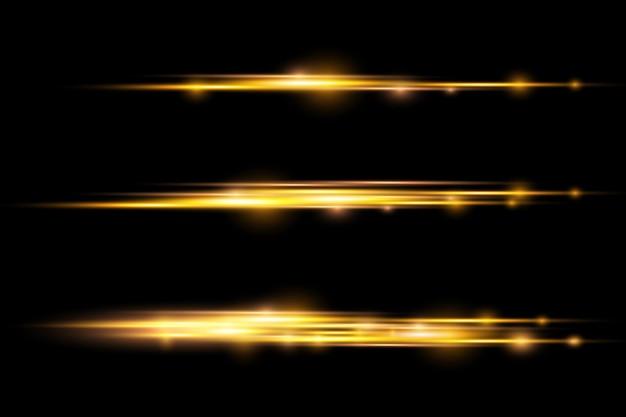 Rayons lumineux horizontaux