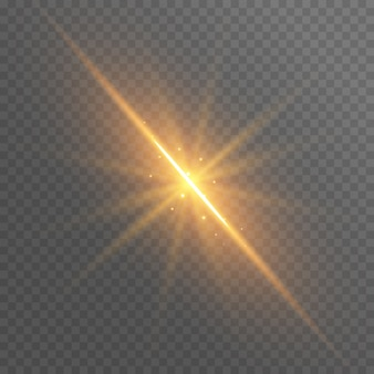 Les rayons d'or abstraits brillent