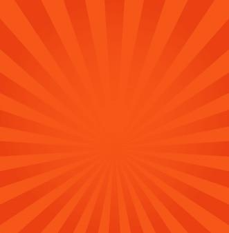 Rayons orange ou rouge à partir du fond du centre
