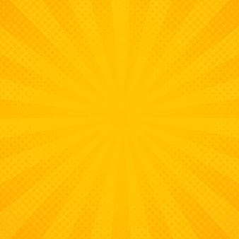 Rayons de rayonnement jaune et orange de fond.