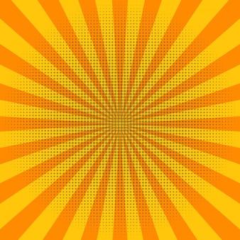 Rayons de soleil abstrait jaune clair