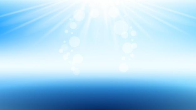 Rayons de soleil brillants bannière élégante copie espace vecteur. affiche vierge de lumière scintillante et de rayons de soleil. boisson rafraîchissante ou cosmétologie produit de beauté modèle de publicité style illustration couleur