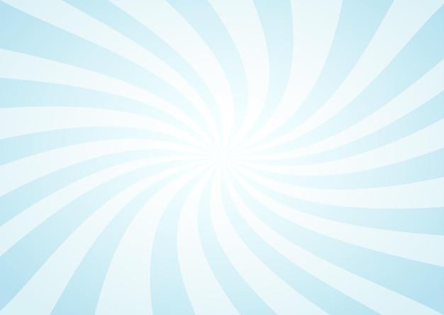 Rayons de soleil vintage bleu abstrait
