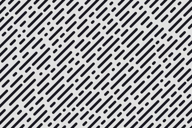 Rayure diagonale minimale abstraite et motif de lignes rondes.