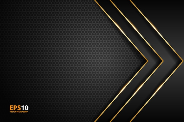 Rayure noire avec bordure dorée sur le fond sombre