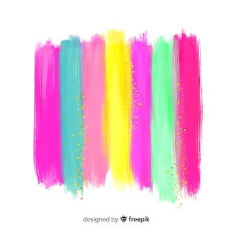 Rayures aquarelles sur fond de paillettes